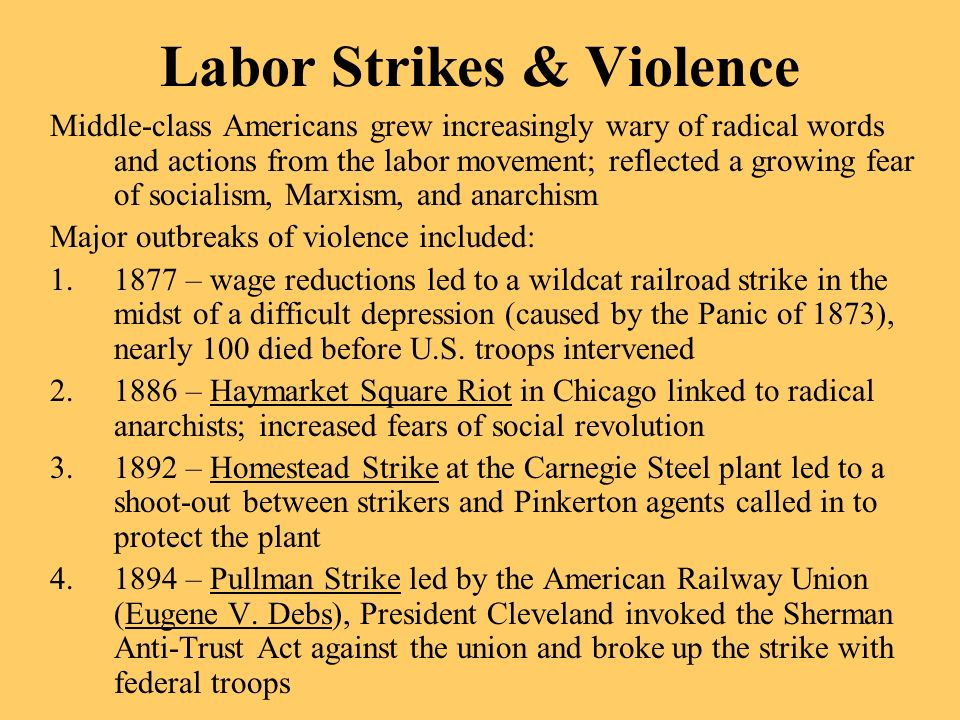 Labor Strikes & Violence