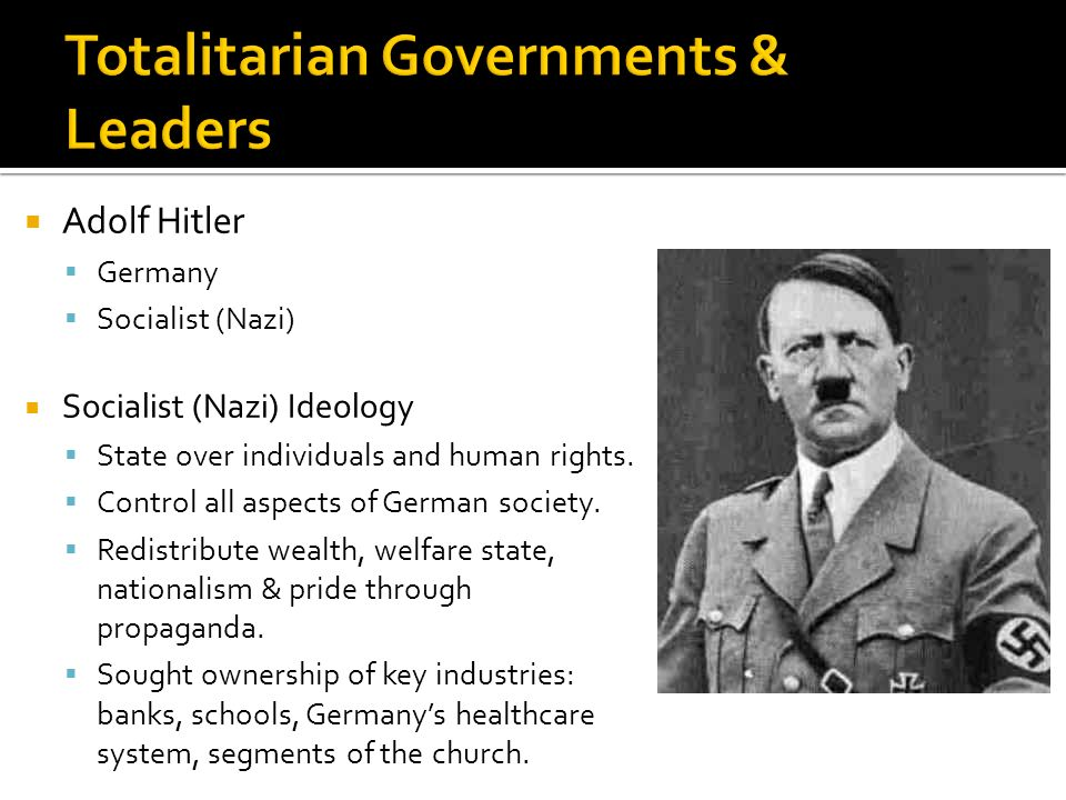 """nazi germany a totalitarian state 1921 established national socialist party (nazi party) 1923 imprisoned for 5 years and wrote a book """"my struggle"""" 1932 nazi party became the largest party 1933 appointed hitler as the chancellor and turned germany as a totalitarian state under nazi party's rule."""