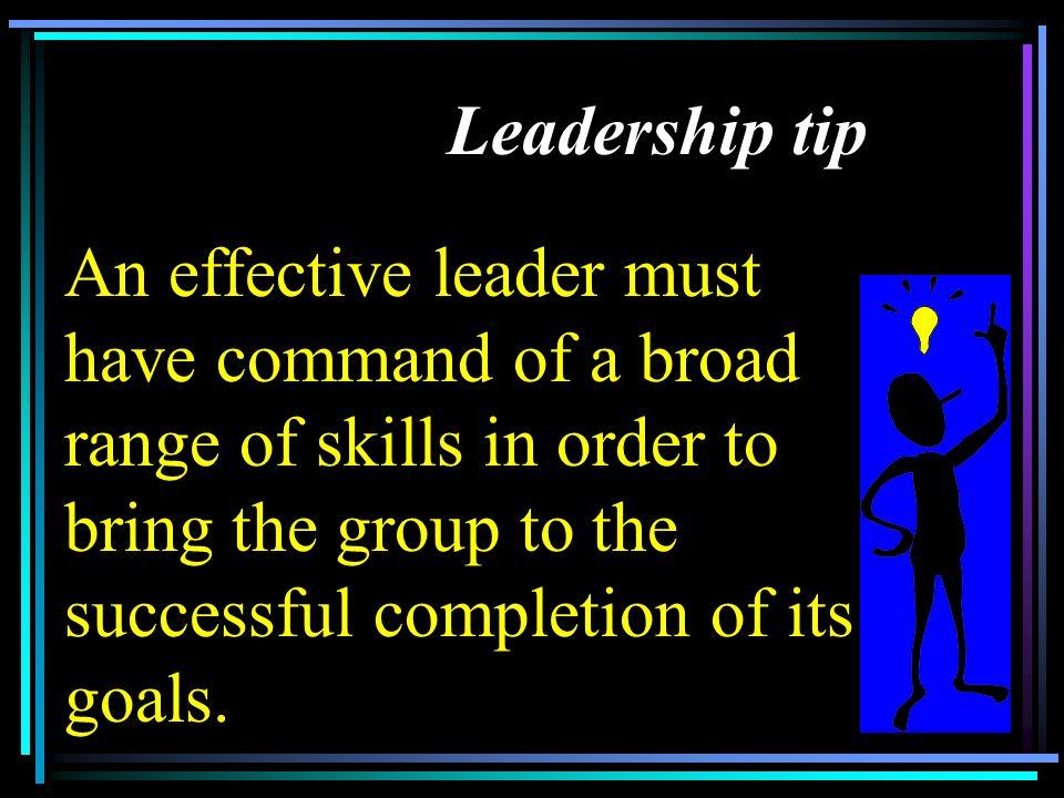 Leadership tip