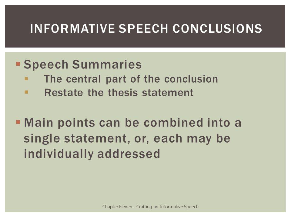 informative speech about racism
