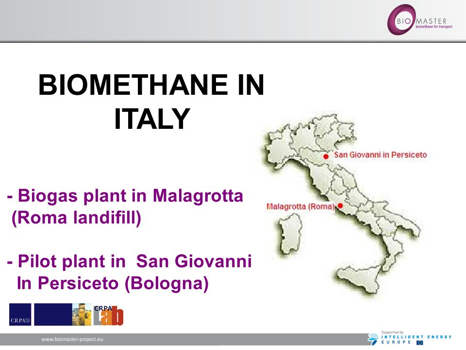 BIOMETHANE IN ITALY - Biogas plant in Malagrotta (Roma landifill)