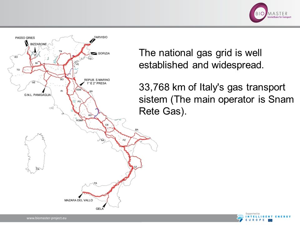 The national gas grid is well established and widespread.