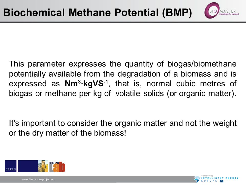 Biochemical Methane Potential (BMP)