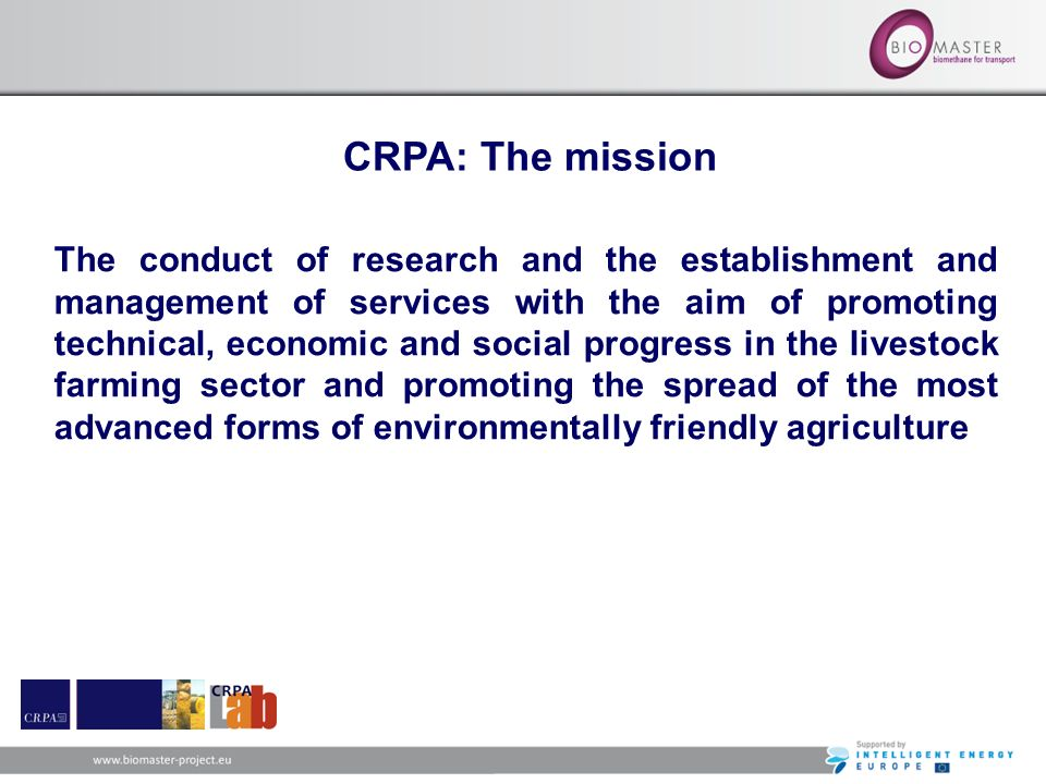 CRPA: The mission