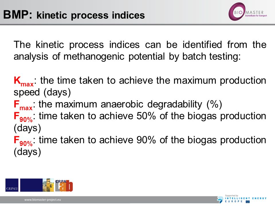 BMP: kinetic process indices