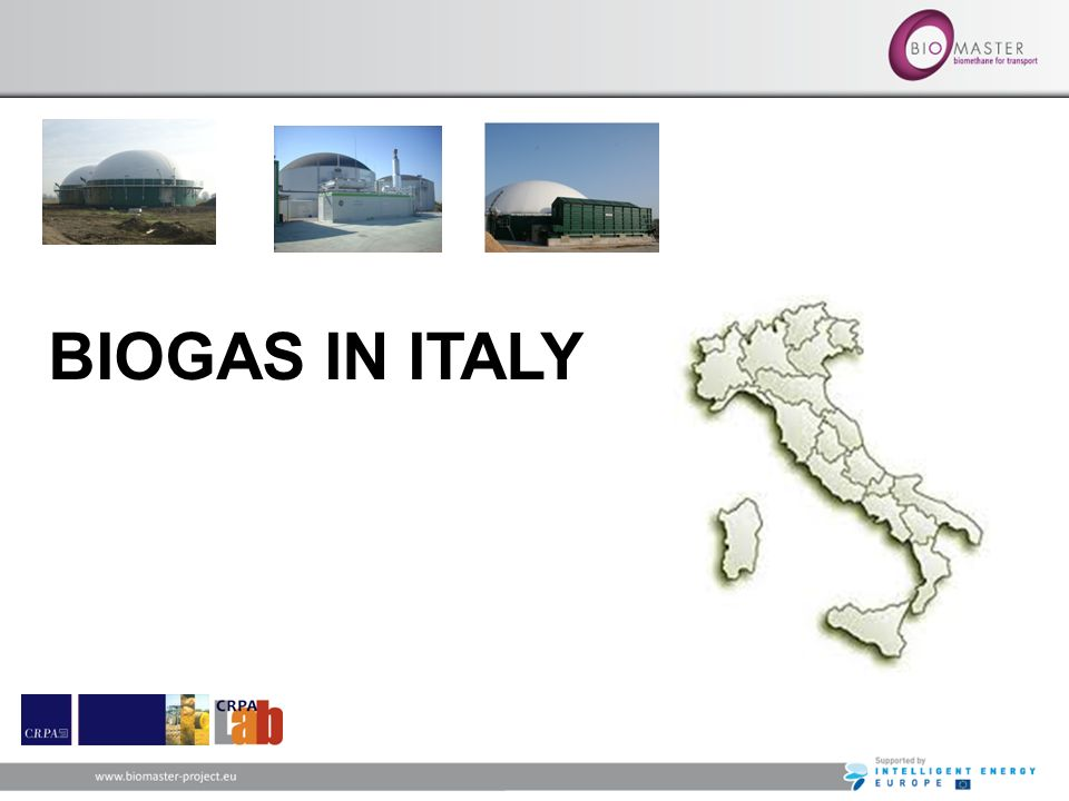 BIOGAS IN ITALY 6