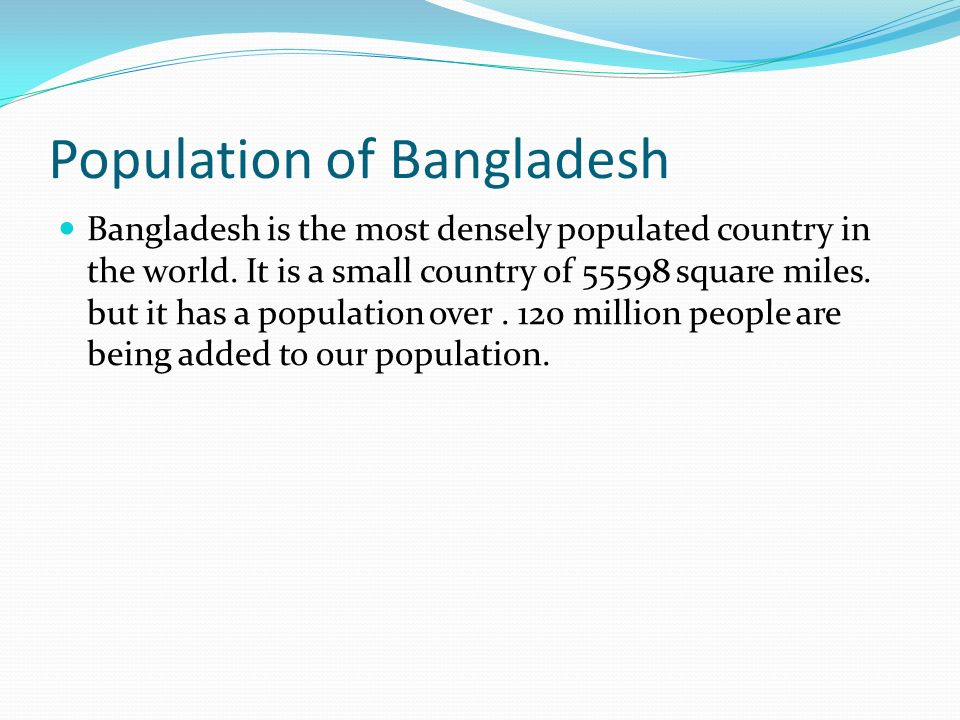 population problem of bangladesh Asia includes: bangladesh, brunei darussalam, cambodia, chinese taipei,  india, indonesia,  where is the real population problem.