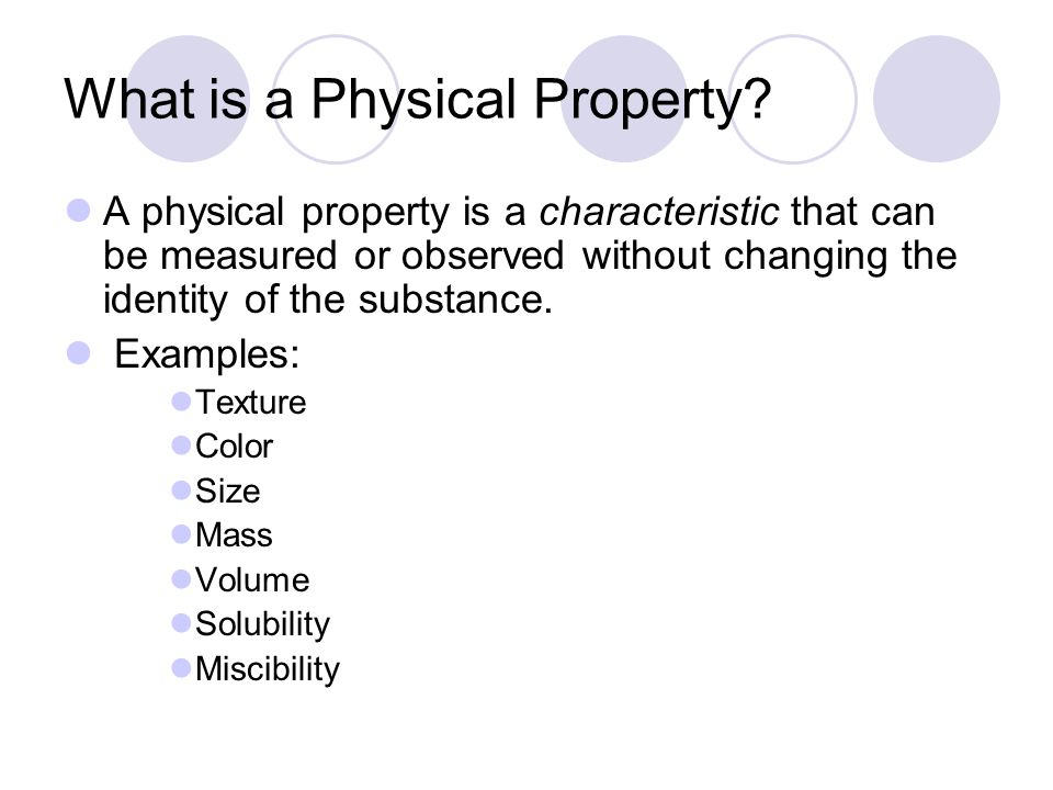 Characteristic Physical Property Of Water