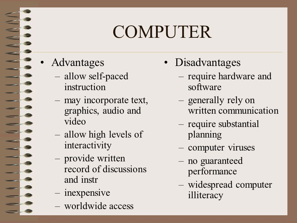 advantages and disadvantages of computer essays Read this term paper and over 1,500,000 others like it now don't miss your chance to earn better grades and be a better writer.