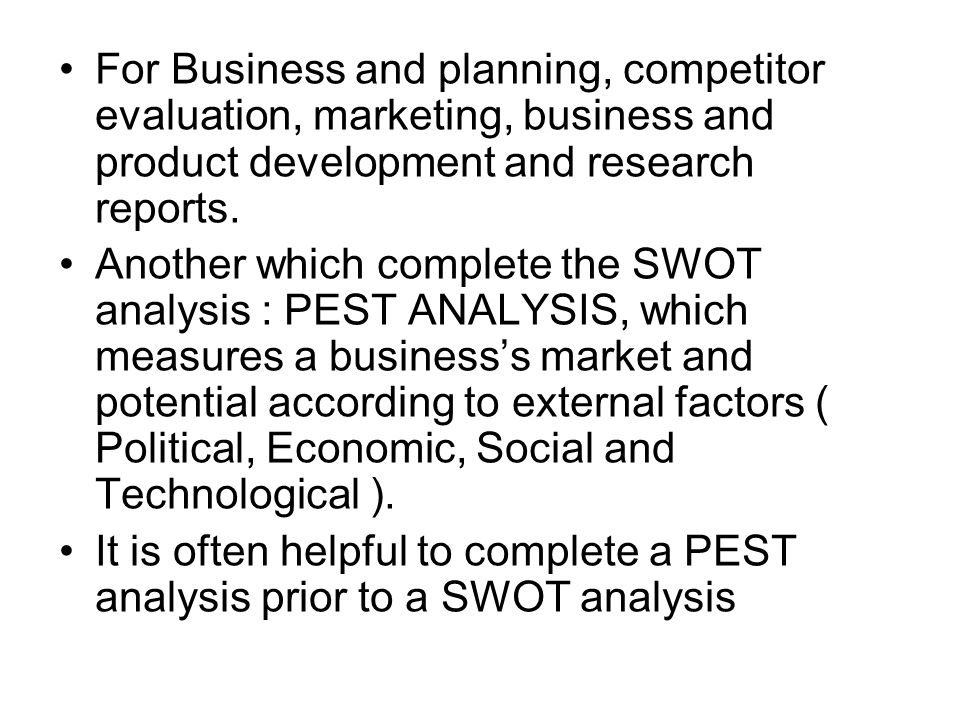 business plan evaluation report