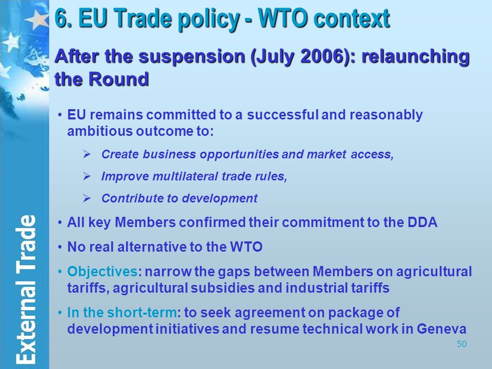 eu trade and development policies In the work package 'trade, development and global justice' we ask: what conception of justice, if any, underpins the eu's trade and development policies how does the eu contribute to global justice through this conception.