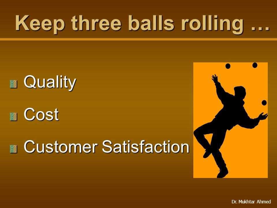 Keep three balls rolling …