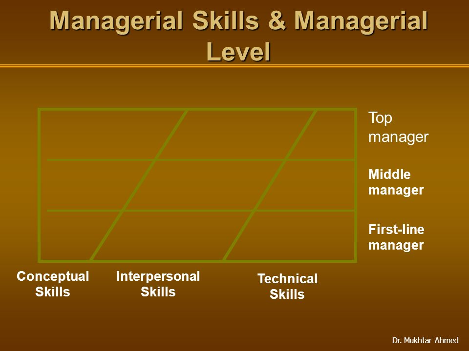 Managerial Skills & Managerial Level