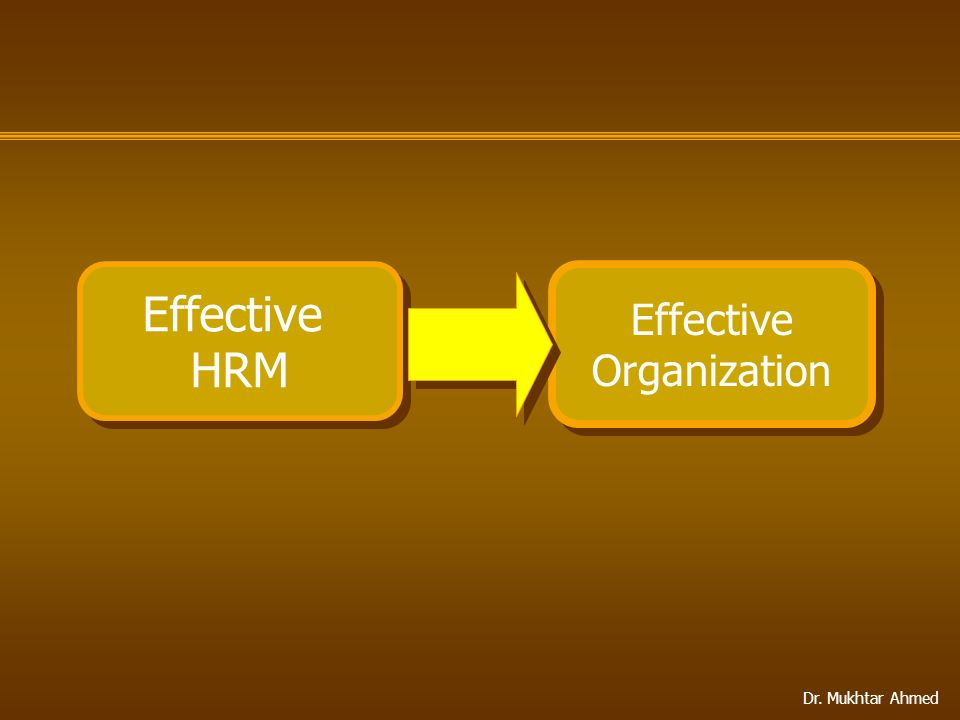 Effective HRM Effective Organization