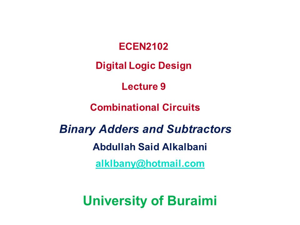 Abdullah Said Alkalbani alklbany@hotmail.com University of Buraimi