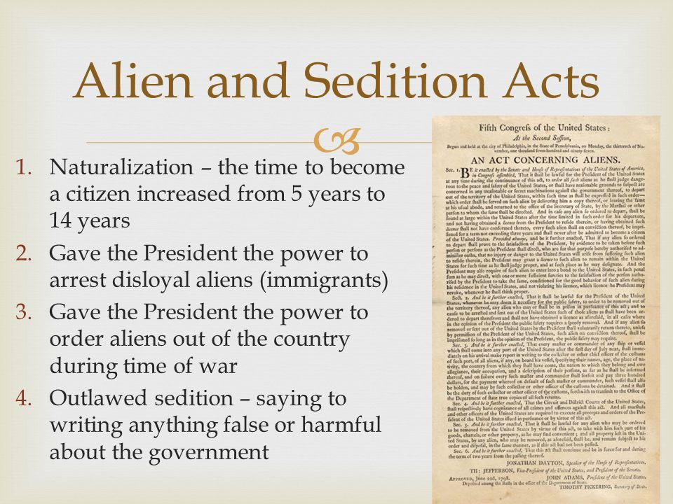 the debate over the alien and sedition acts of 1798 Alien and sedition acts of 1798 justin florence in the summer of 1798 the young united states was on the brink of war with france, one of the mightiest powers in the world some worried america faced not only a powerful enemy abroad, but also a threatening undercurrent of opposition at ho.
