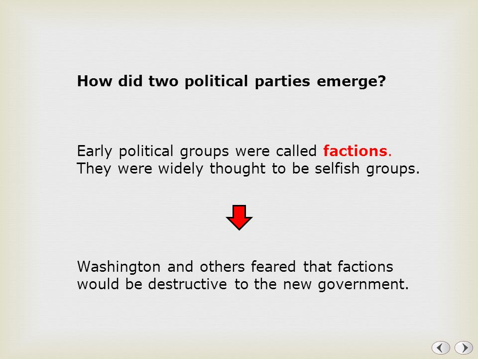 How did two political parties emerge