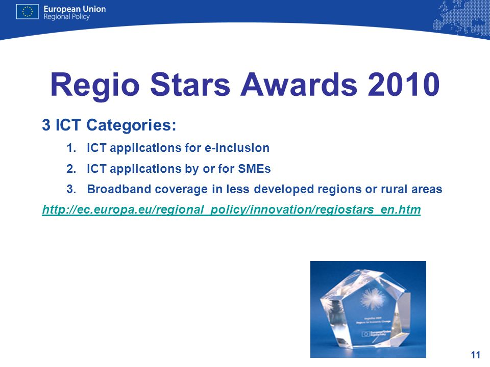 Regio Stars Awards 2010 3 ICT Categories: