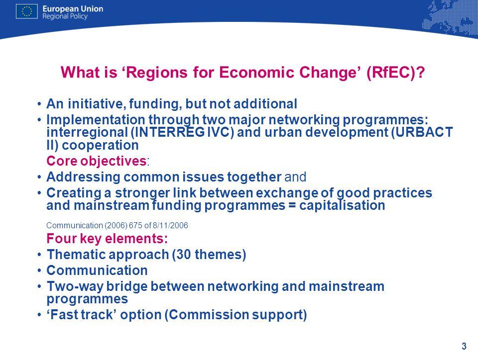 What is 'Regions for Economic Change' (RfEC)