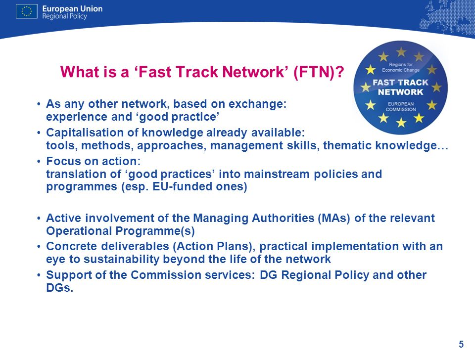 What is a 'Fast Track Network' (FTN)