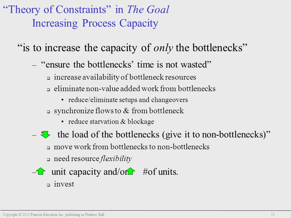 the goal theory of constraints Goal (a process of ongoing improvement) operation management this project is basically the application of goal (novel) in the operati.
