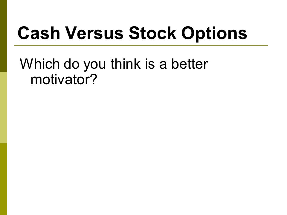 Stock options for consultants
