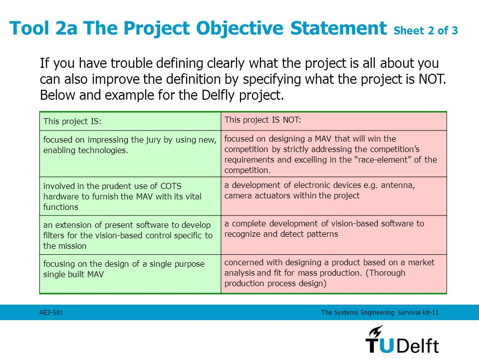 Systems engineering technical management techniques - Project management office mission statement ...
