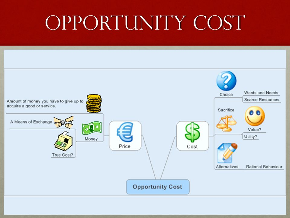 Economic term opportunity cost