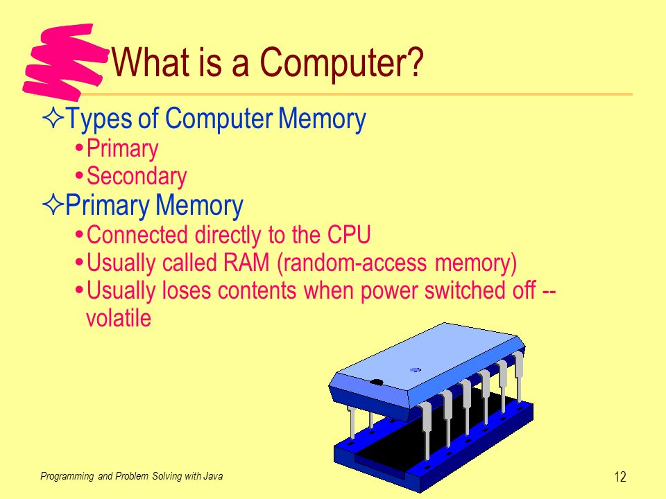 1 what is primary memory what are the characteristics of primary memory 1 primary memory / volatile memory 2 hello sir/madam, please provide full information about computer memory anonymous february 13, 2018.