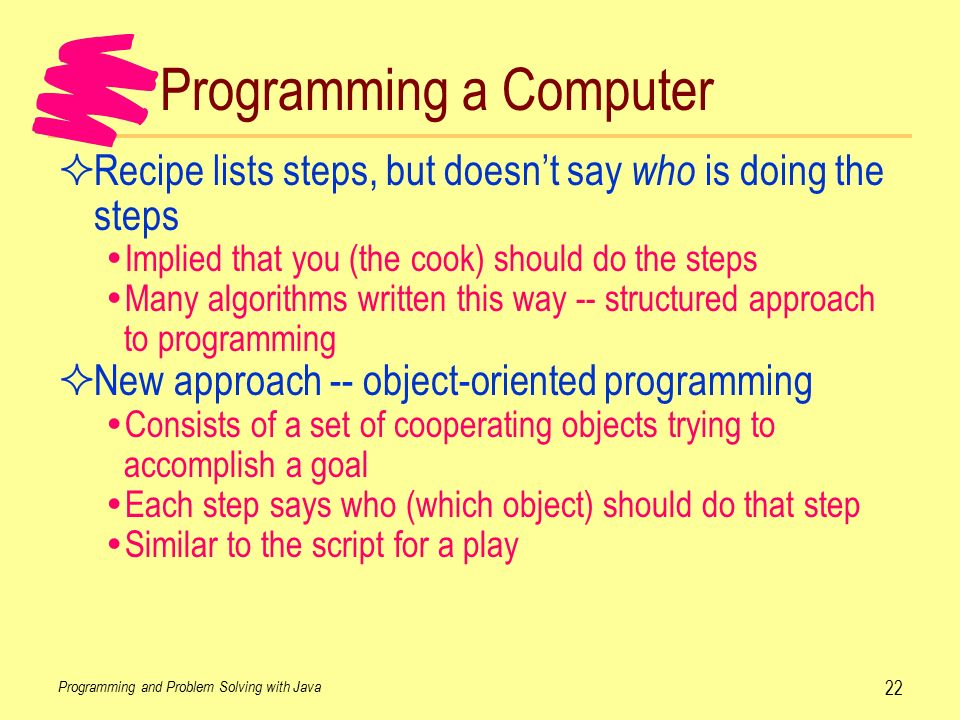 a paper on object orientated approach in computing and programming 16 the benefits of the object oriented programming approach  computing is  a constantly changing our world and our environment in the 1960s large.