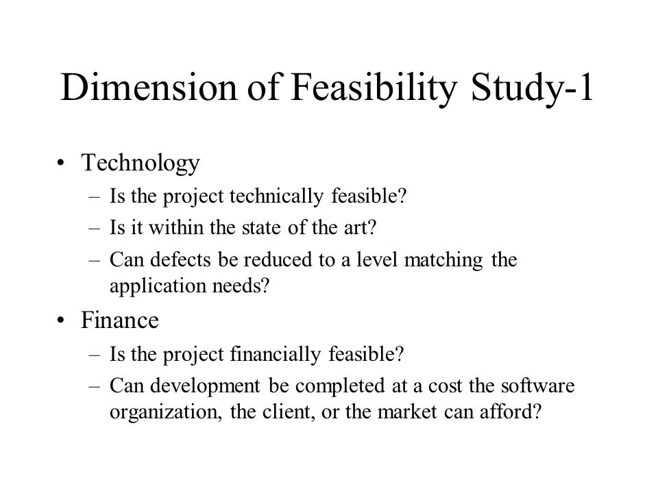 feasibility study of a software project pdf