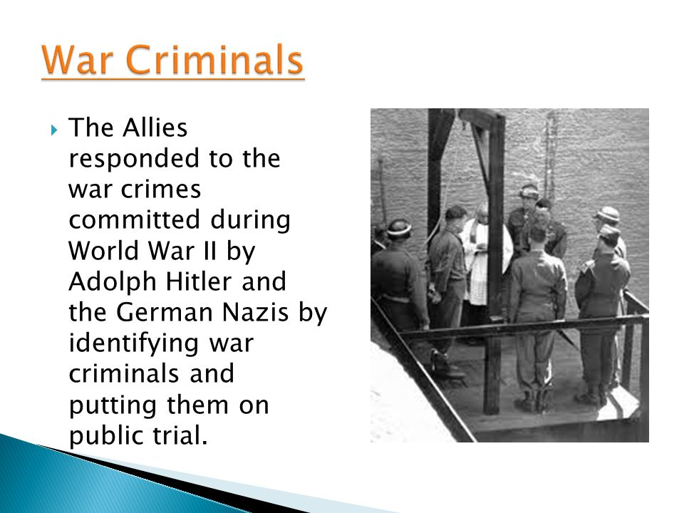 crime rates united states during world war ii War crime, in international law, serious violation of the laws or customs of war as  defined by  define a broad range of war crimes was the instructions for the  government of armies of the united states in the  the next major attempt to  prosecute war criminals occurred in europe and asia after world war ii   recent trends.
