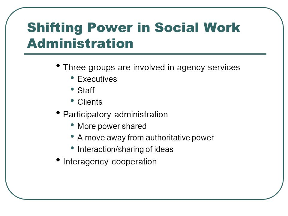 how to become a social work administration