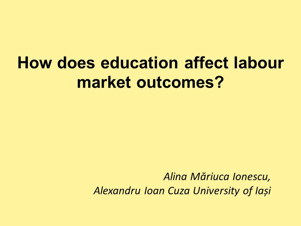 How does education affect labour market outcomes