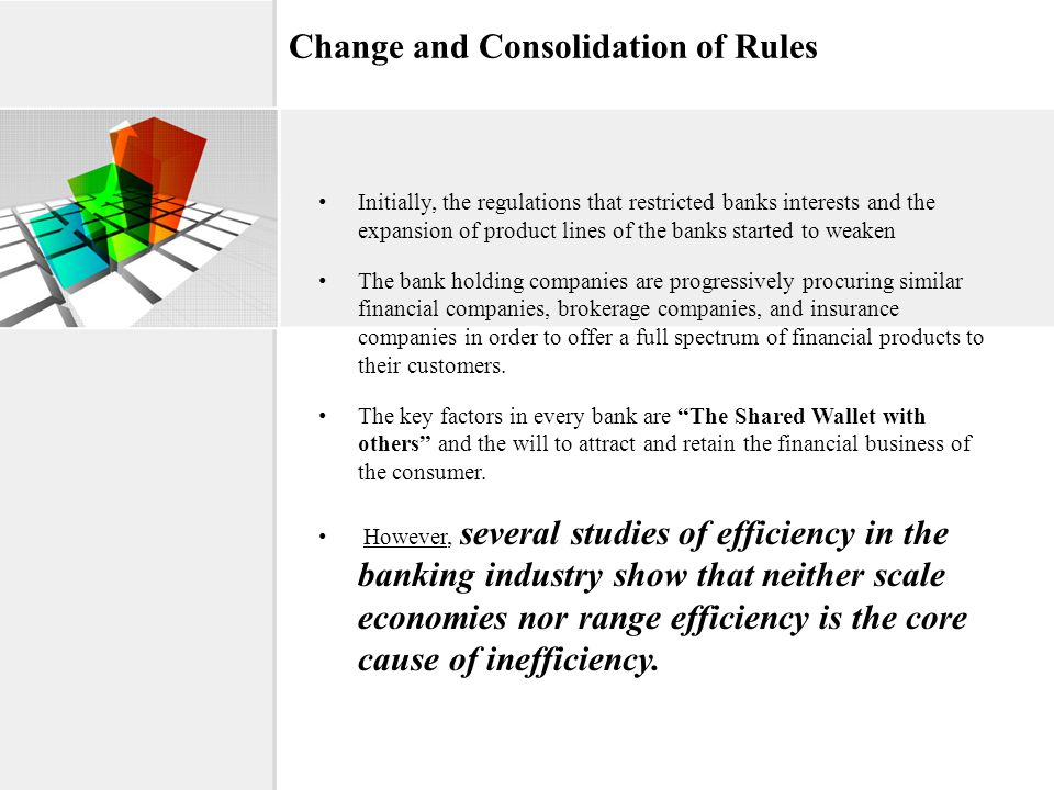 Change and Consolidation of Rules