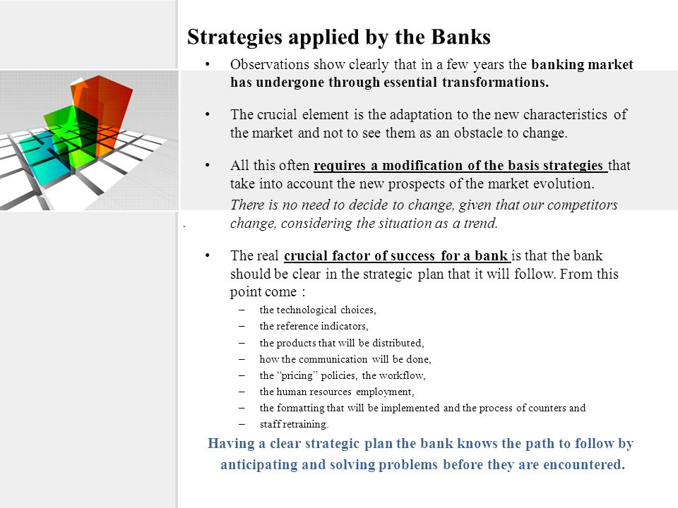 Strategies applied by the Banks