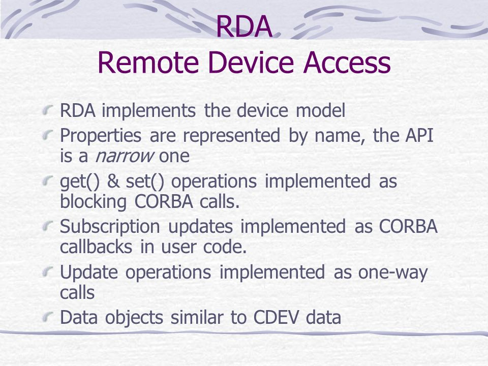 RDA Remote Device Access
