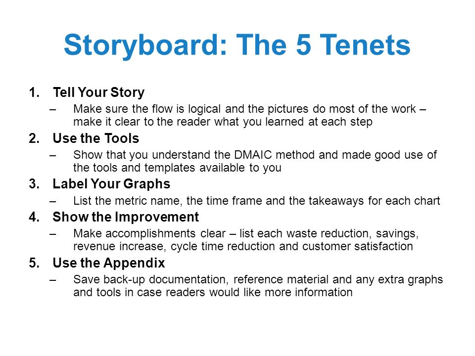 Black Belt Project Storyboard Template - Ppt Video Online Download