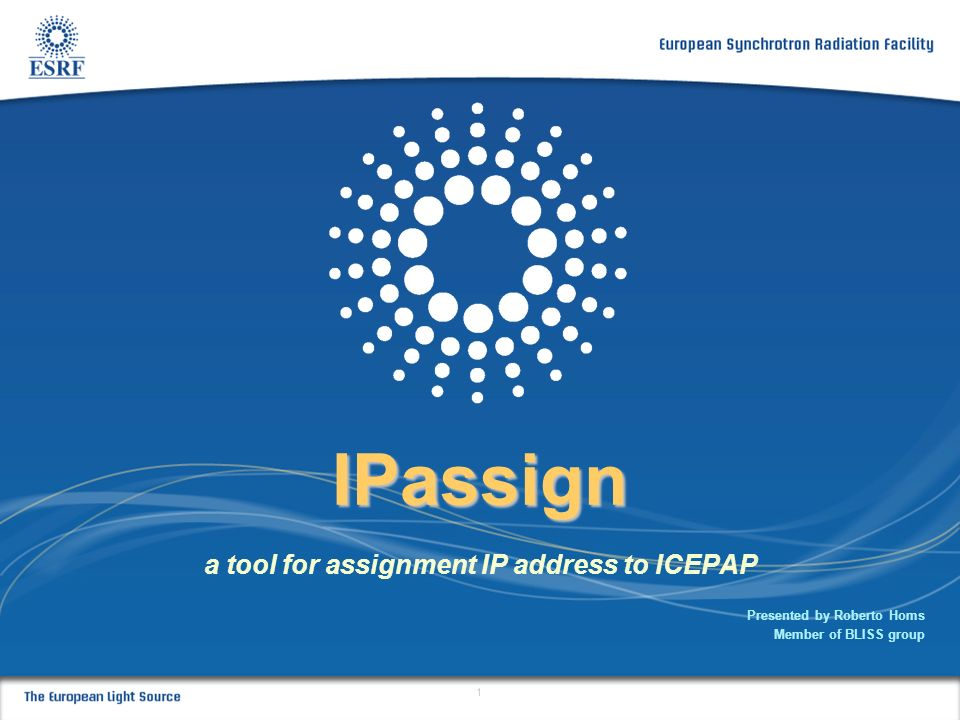 a tool for assignment IP address to ICEPAP
