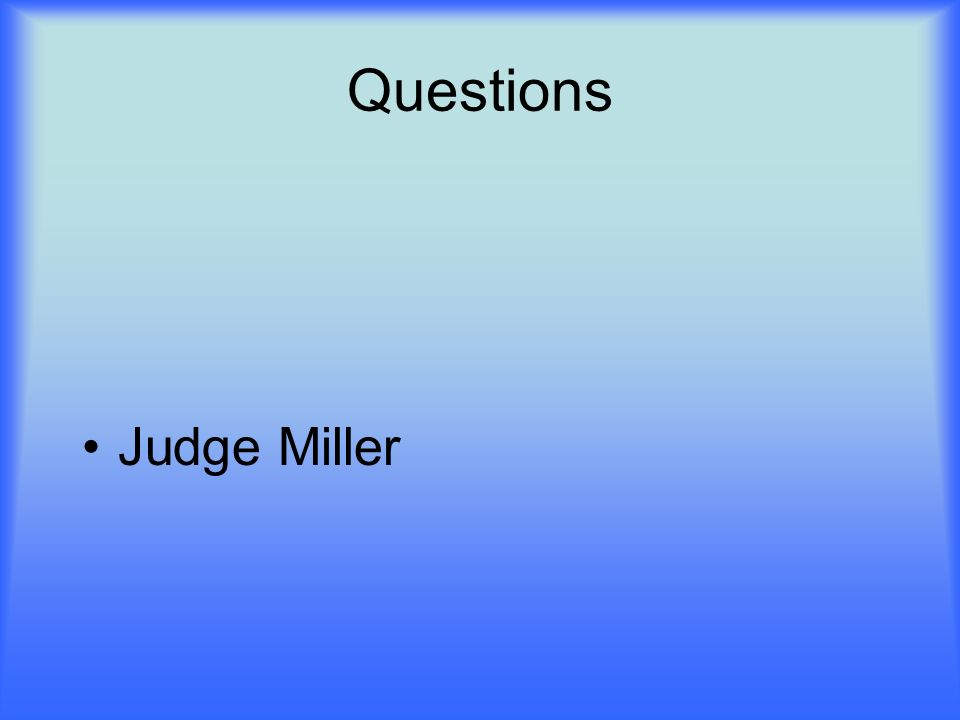 Judge Miller Call Of The Wild
