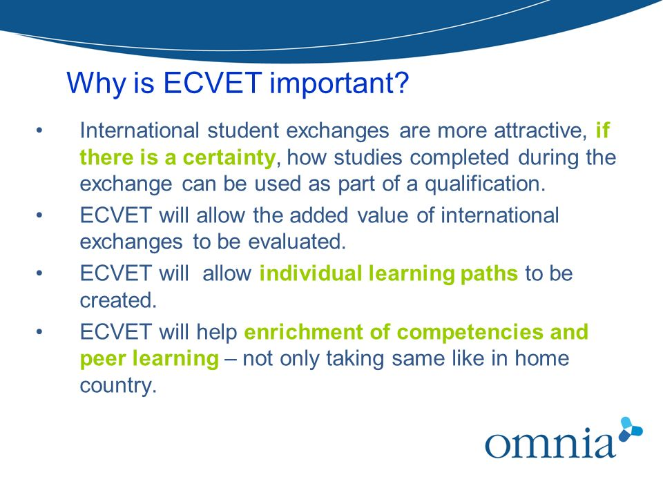 Why is ECVET important