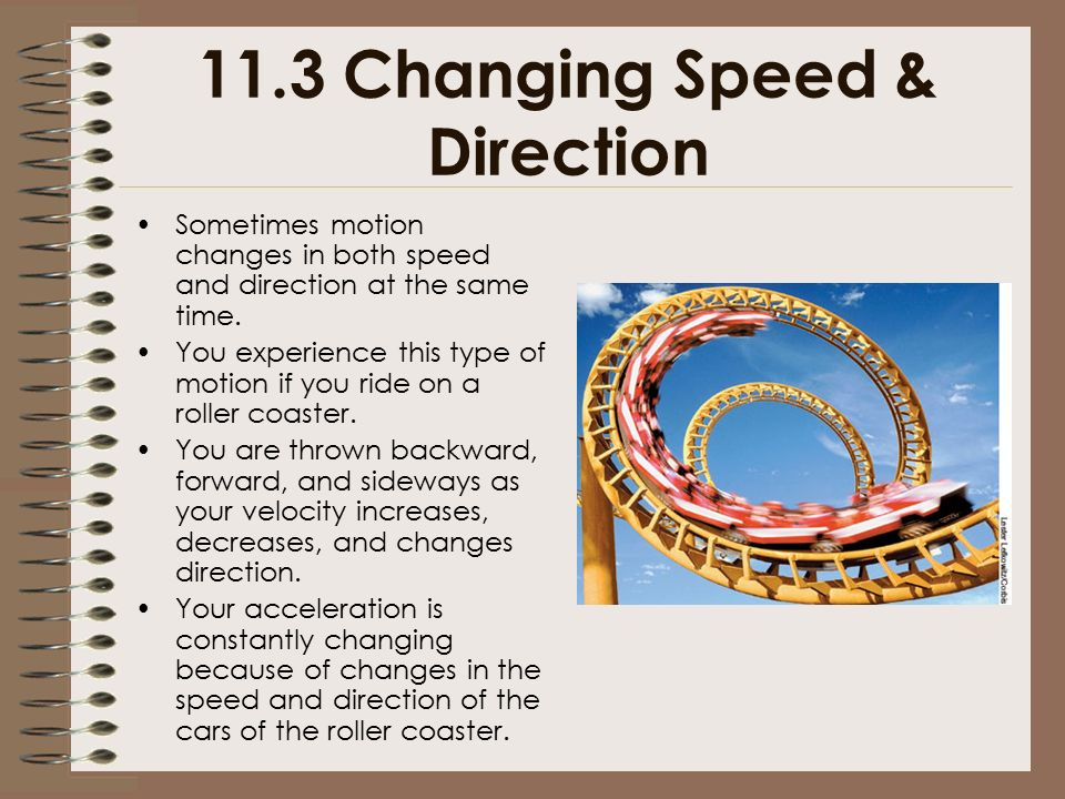 11.3 Changing Speed & Direction
