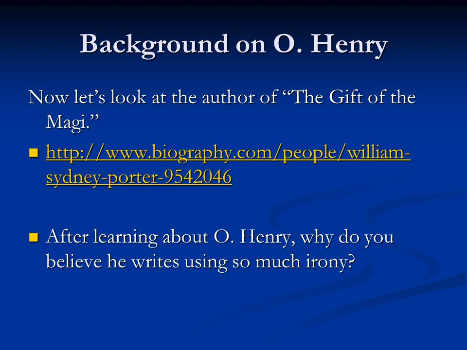 O Henry short story page ppt video online download – The Gift of the Magi Worksheet