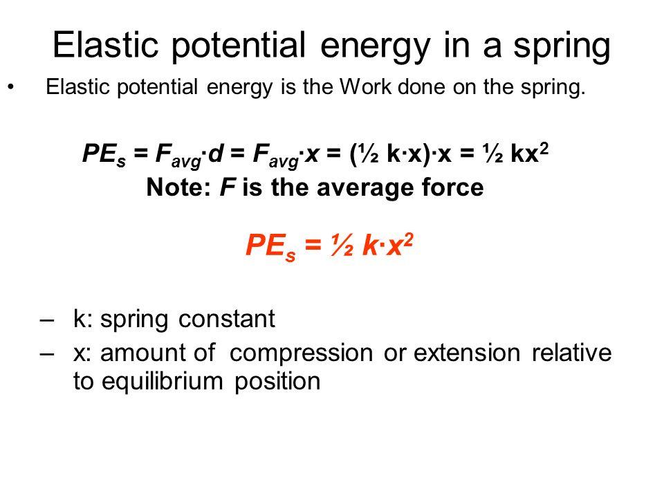 Elastic potential energy worksheet answers