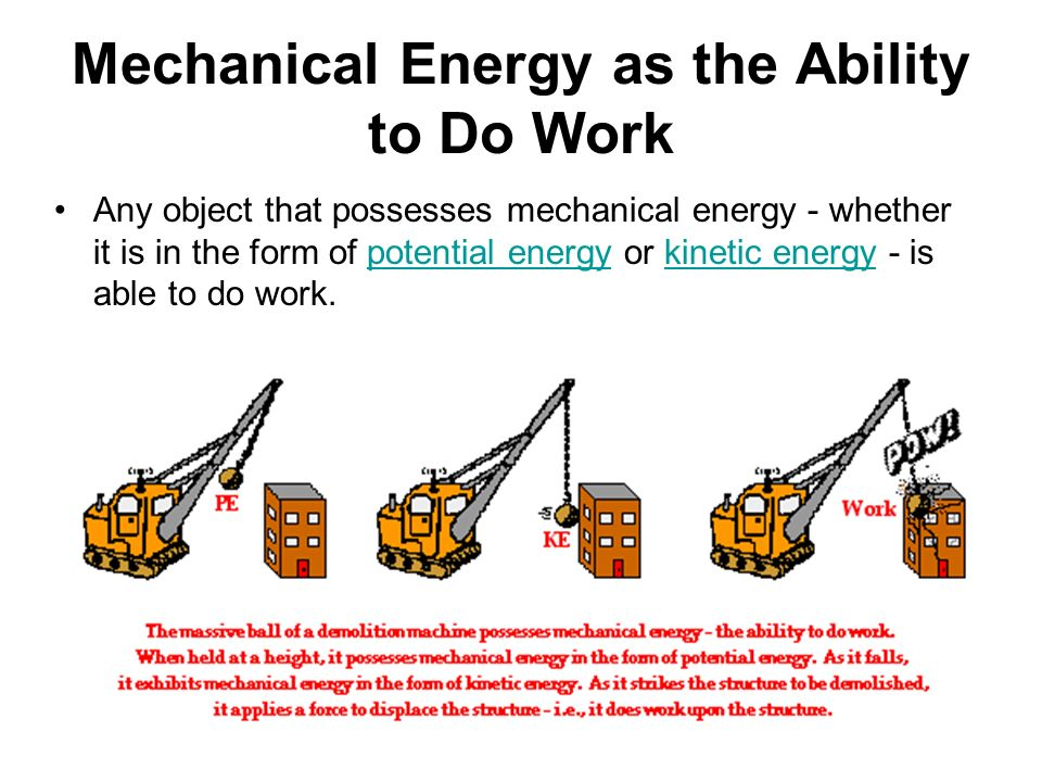 the mechanical energy