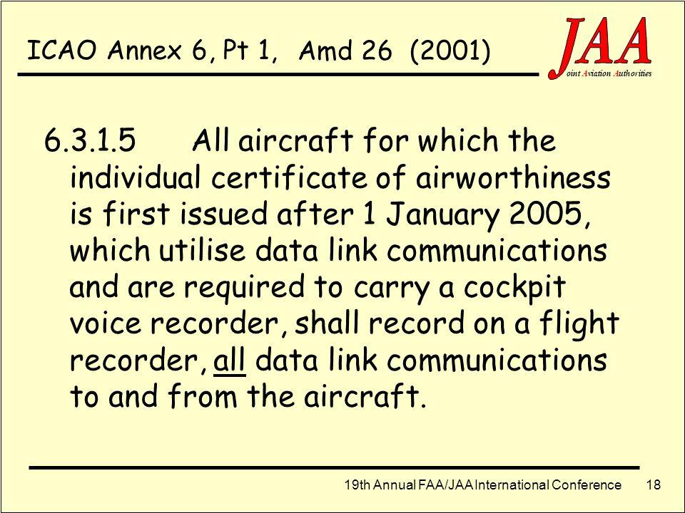 ICAO Annex 6, Pt 1, Amd 26 (2001)