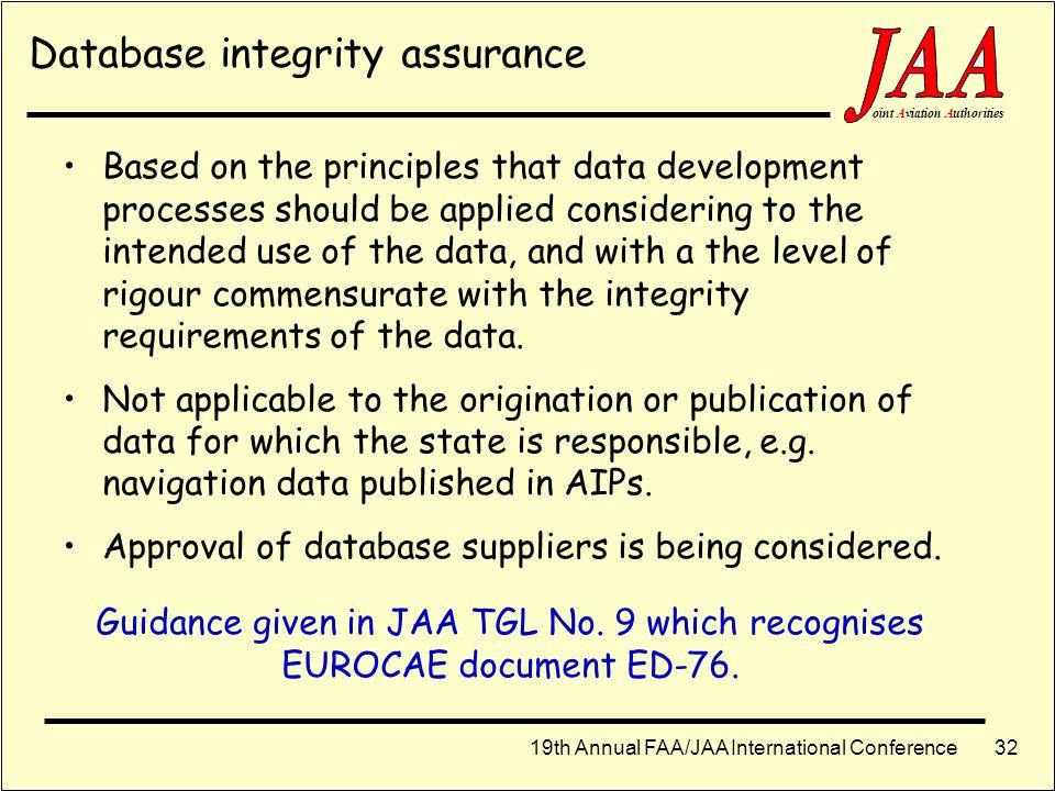 Database integrity assurance