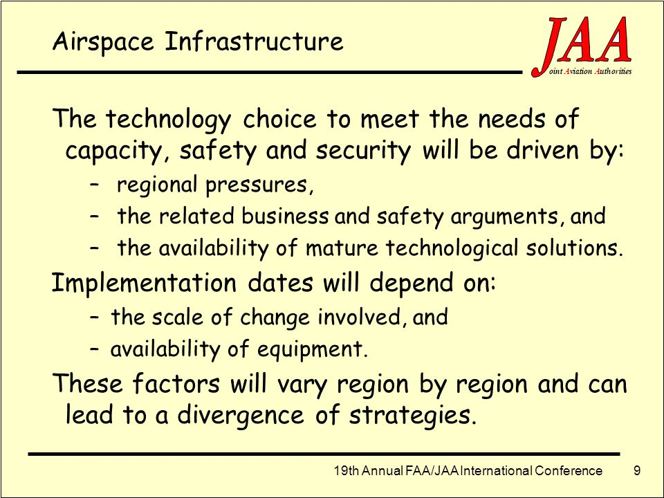 Airspace Infrastructure