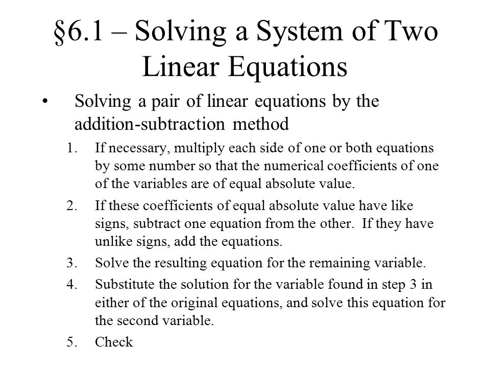 how to solve a system of equations equal to zero