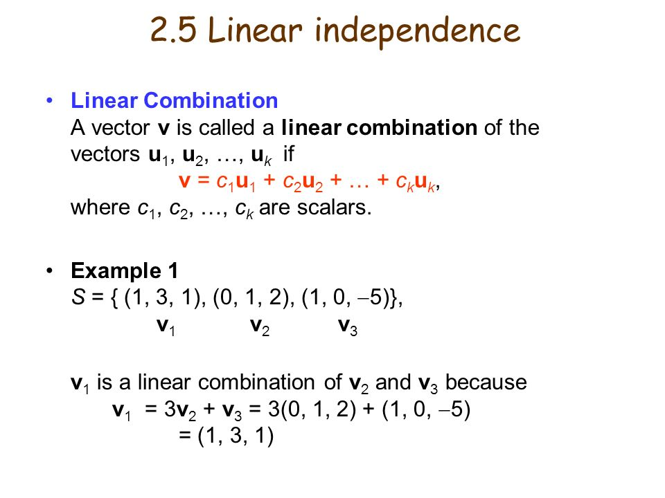 how to tell linear independence